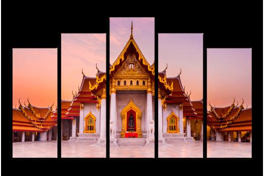 Модульная картина Буддийский храм