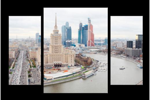 Модульная картина Гостиница на Москва-реке