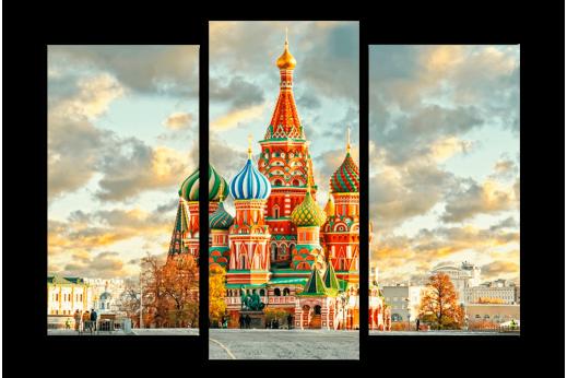 Модульная картина Храм Василия Блаженного