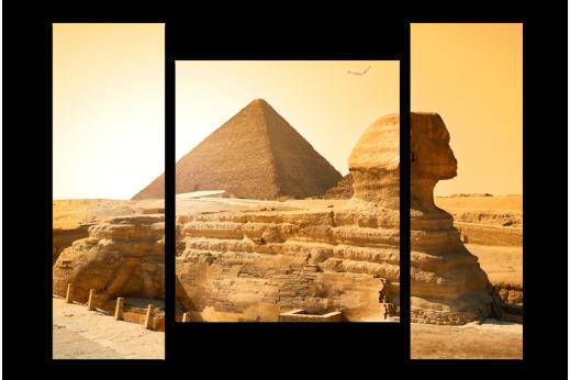 Модульная картина  Хранитель Пирамид Сфинкс