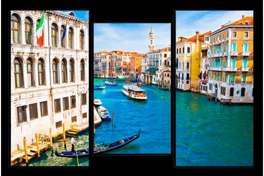 Модульная картина Каналы Венеции