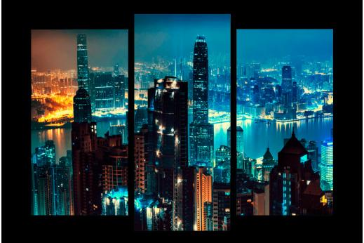 Модульная картина Ночной Пекин