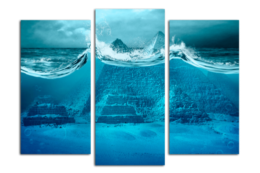 Модульная картина Пирамиды под водой