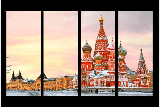 Модульная картина Зимний Покровский Собор