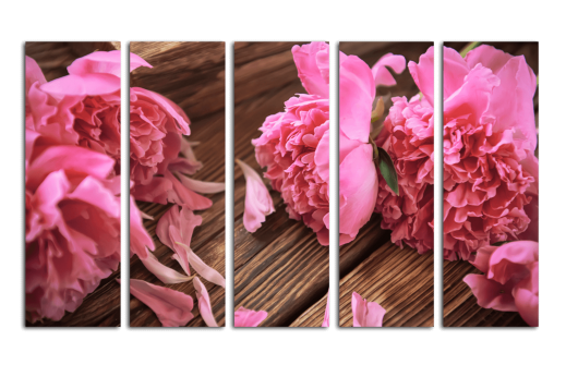 Модульная Лепестки розового пиона