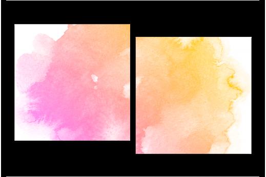 Модульная картина Акварельное пятно